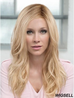 Layered Blonde Wavy 18 inch Long Synthetic Hair Wig