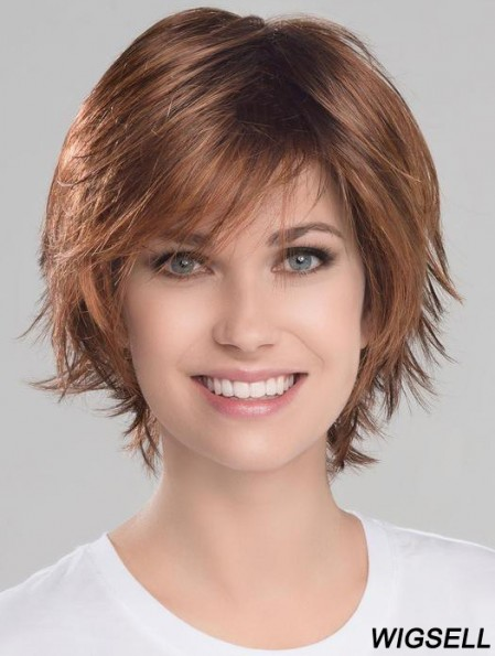 Auburn Beautiful Wavy Short Synthetic Bob Wigs