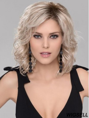 Without Bangs 12 inch Chin Length Wavy High Quality Medium Wigs
