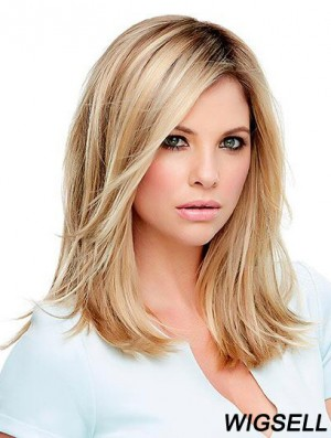 Blonde Wigs UK Shoulder Length Straight Wig Cheap