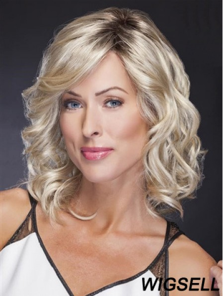 Blonde Wig UK Lace Front Shoulder Length Wig Wavy Style