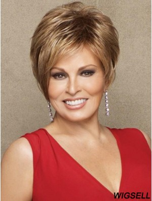 Boycuts Brown Straight 3 inch Cropped Synthetic Wigs Raquel Welch Cinch Wig