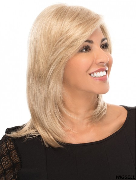 "With Bangs 14"" Shoulder Length Straight Gorgeous Medium Wigs"
