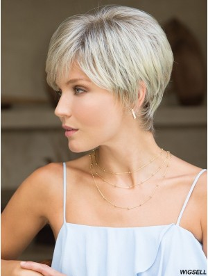Boycuts Grey Straight 4 inch Cropped Synthetic Wigs
