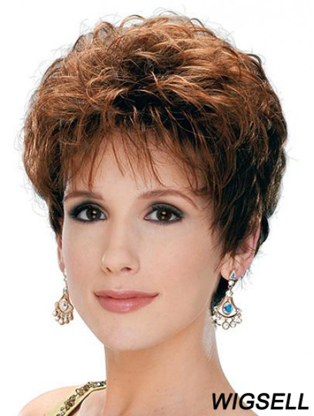 Classic Lady Wig With Capless Synthetic Curly Style Short Length