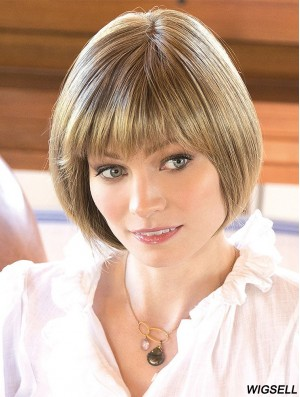 10 inch Chin Length Blonde Straight Designed Bob Wigs