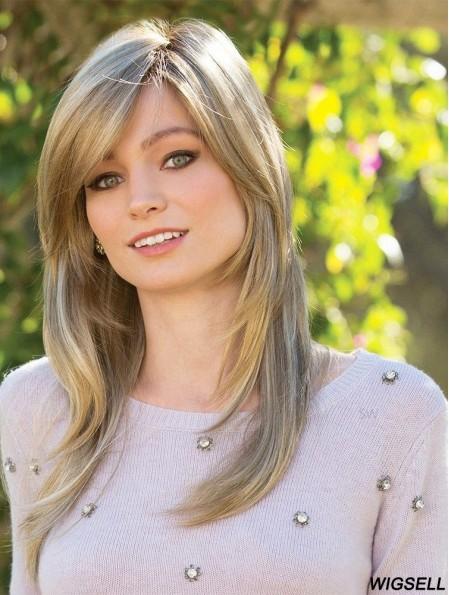 Long Blonde 16 inch Monofilament Online Long Wigs