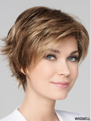 Monofilament Wig Blonde Hair Wig Short Style 8 Inch