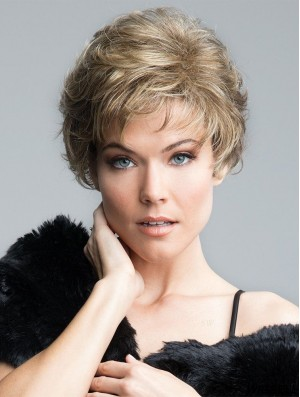 Curly Blonde Short 8 inch Gorgeous Classic Wigs