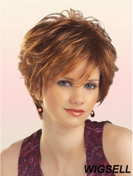 Cheap Synthetic Wigs With Capless Short Length Layered Cut