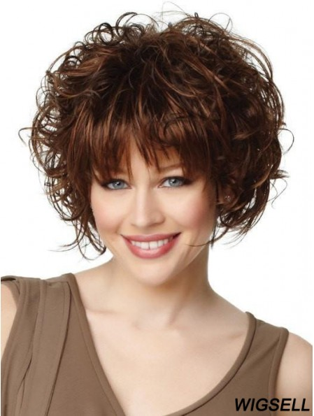 With Bangs Auburn Straight 8 inch Cropped Synthetic Wigs