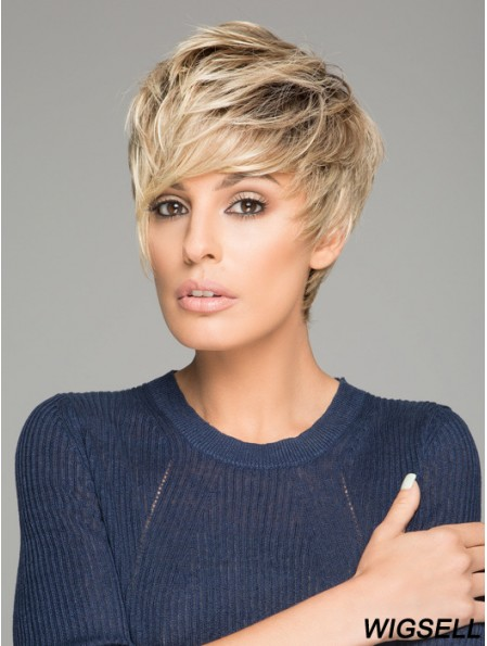 Synthetic Wigs Good Quality Monofilament Straight Style Blonde Color