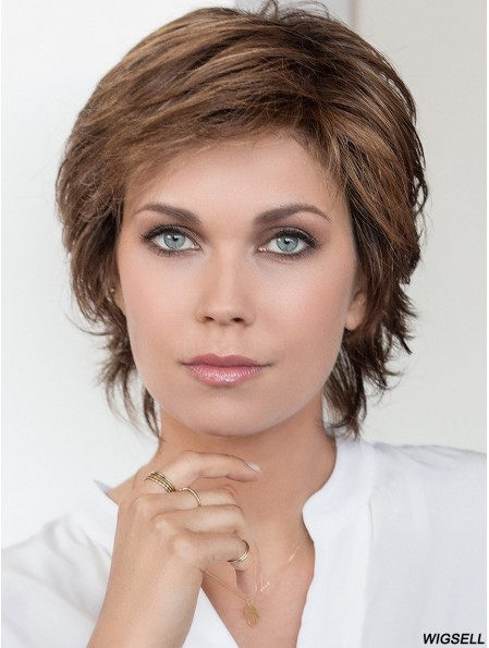 Short Curly Brown 8 inch Cheap Lace Wig