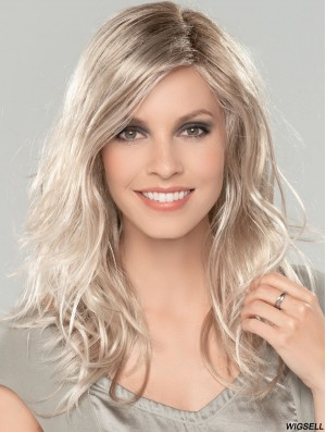 Platinum Blonde 16 inch Without Bangs Long Amazing Monofilament Wigs