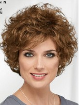 Curly Brown Wig Short Hair Synthetic Wig Classic For Ladies 8 Inch