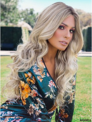 Blonde Layered 22 inch Wavy Synthetic Wigs