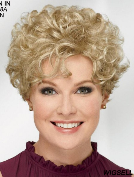 Curly Blonde Short 8 inch Trendy Classic Wigs