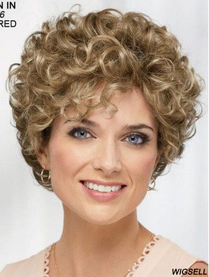 Curly Blonde Short 8 inch Soft Classic Wigs