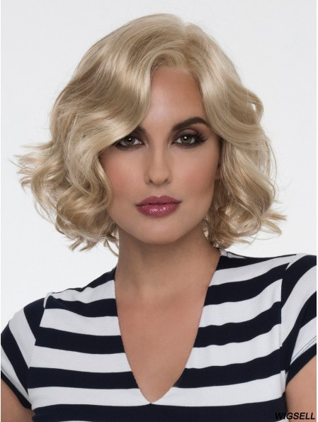 Monofilament Blonde 10 inch Short With Bangs Heat Friendly Wigs