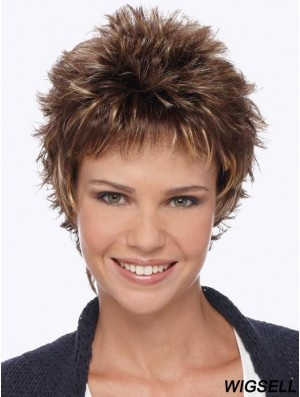 Boycuts Blonde Wavy 6 inch Short Synthetic Wigs