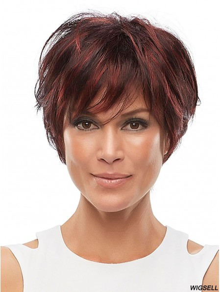 With Bangs Auburn 6 inch 100% Hand-tied African Hairstyles