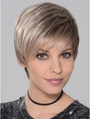 Boycuts Ombre/2 tone Straight 4 inch Wefted Wig