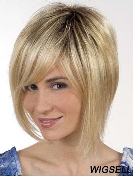 Chin Length Blonde Great 8 inch Straight Bob Wigs