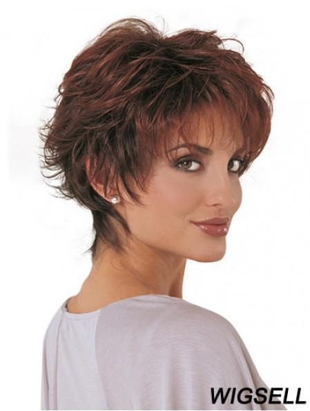 Synthetic Fashion Wigs Classic Cut Short Length Auburn Color