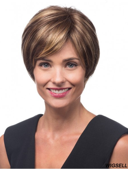 Short Straight Lace Front Layered 10 inch Popular Synthetic Wigs