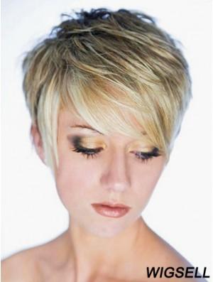 Short Wig Blonde Hair Cropped Wig UK Cheap