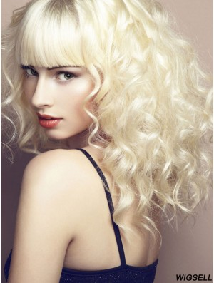 Long With Bangs Curly Ideal Synthetic Wigs