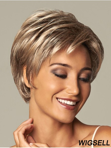 Wavy Layered 8 inch Blonde Trendy Synthetic Wigs