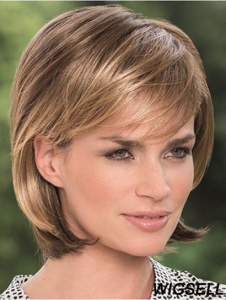 Synthetic Knotted Wigs 100% Hand Tied Bobs Cut Blonde Color