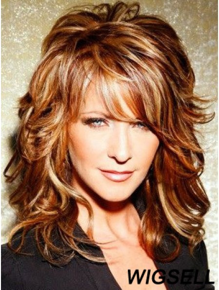 Curly Lace Front Wig Joy Behar Wig Mid Length Wig With Bangs Synthetic