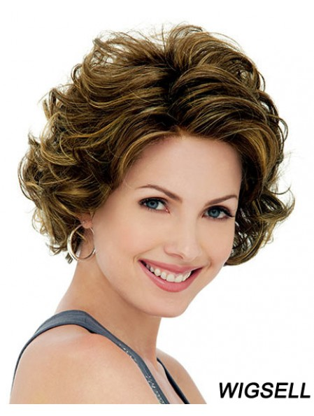 Lace Front Synthetic Wigs UK Chin Length Lace Front Curly Style