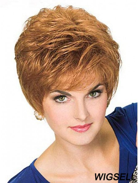 Boycuts Wigs Blonde Hair 100% Hand Tied Good Quality