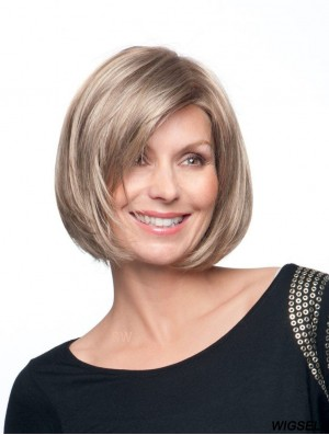Bob Wig Blond Hair Hand Tied Wig UK Classic Style