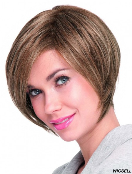 Chin Length Straight Lace Front Auburn Top Bob Wigs