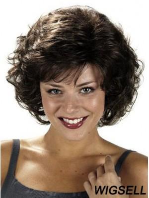 Curly Black Fashion Chin Length Classic Wigs