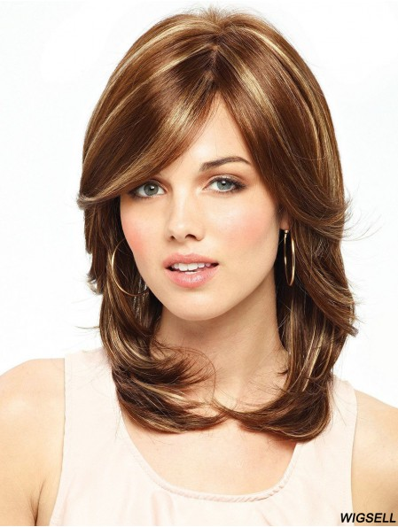Long Wavy Layered Ideal Auburn Lace Front Wigs