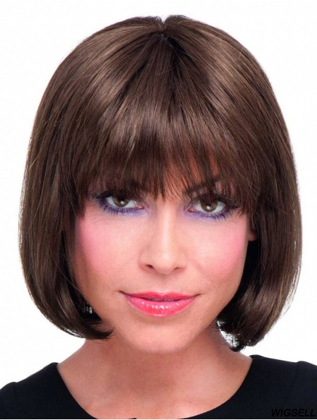 Synthetic Full Lace Wigs UK With Bobs Style Auburn Colour