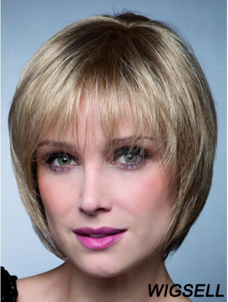 Short Bobs Straight Blonde Top Synthetic Wigs
