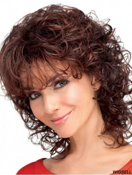 Curly Auburn Convenient Shoulder Length Classic Wigs
