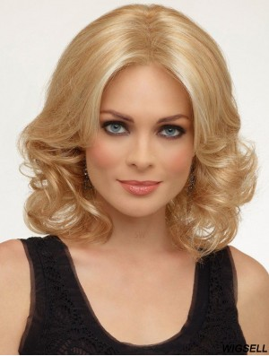Curly Wigs UK Modern Blonde Hair Wig Without Bangs Online