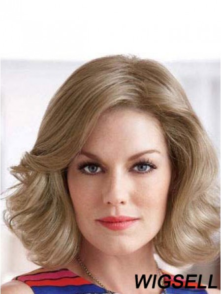 Wavy Blonde Hairstyles Chin Length Classic Wigs