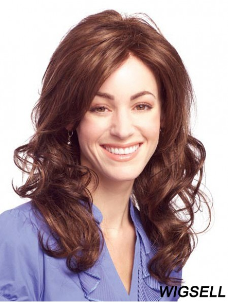 Top Auburn Long Without Bangs Wavy Glueless Lace Front Wigs