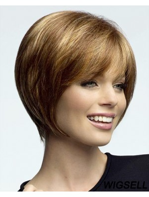 Chin Length Straight Lace Front Blonde New Bob Wigs