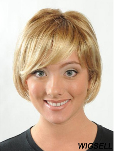 Short Bobs Straight Blonde Modern Synthetic Wigs