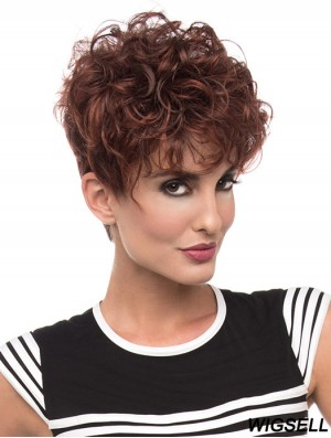 Curly Red Beautiful Short Classic Wigs