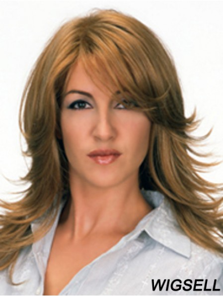 Perfect Brown Straight Layered Long Wigs